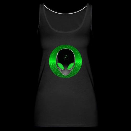 Psychedelic Alien Dolphin Green Cetacean Inspired - Women's Premium Tank Top