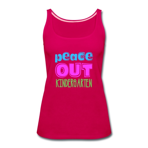 Kreative In Kinder Peace Out - Women's Premium Tank Top