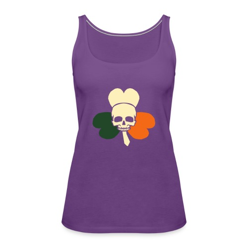 irish_skull_shamrock - Women's Premium Tank Top