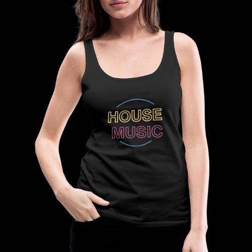 House Music - Women's Premium Tank Top