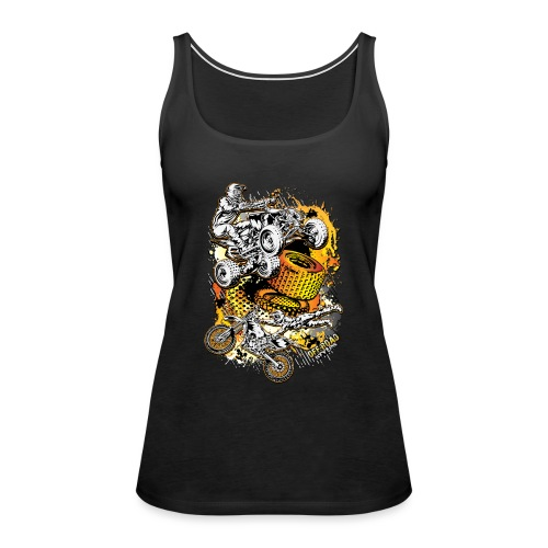 FMX Freestyle Abstract - Women's Premium Tank Top