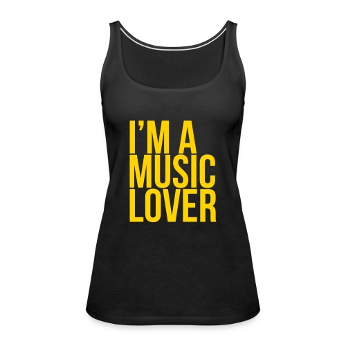 Music Lover big - Women's Premium Tank Top