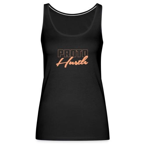 PROTO HUSTLE LOGO PEACH - Women's Premium Tank Top
