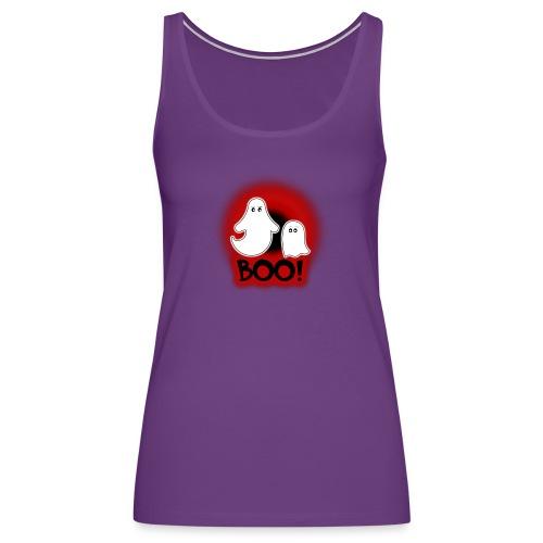 Ghosties Boo Happy Halloween 2 - Women's Premium Tank Top