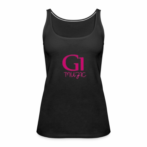 Pink G1 Muzic - Women's Premium Tank Top