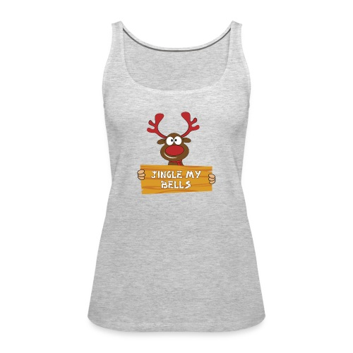 Red Christmas Horny Reindeer 1 - Women's Premium Tank Top