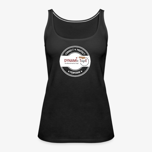 Dynamic Tape Correct-Protect-Perform White circle - Women's Premium Tank Top