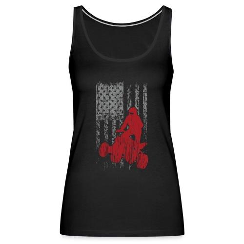 ATV Quad USA Flag Grunge - Women's Premium Tank Top