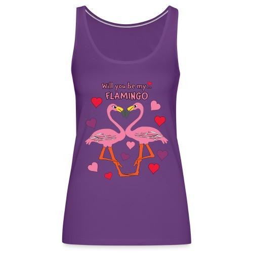 Will You be my Flamingo Valentine Kisses - Women's Premium Tank Top