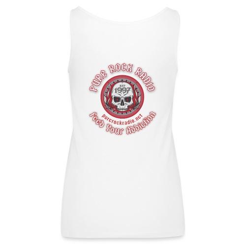PRR Molenoise Skull (Front) + Circle Logo (Back) - Women's Premium Tank Top