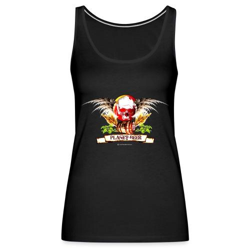 Planet Beer Skull & Keg Gothic Color - Women's Premium Tank Top