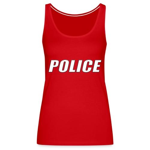 Police White - Women's Premium Tank Top