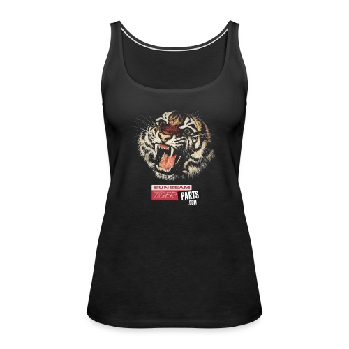 tiger head with logo png - Women's Premium Tank Top