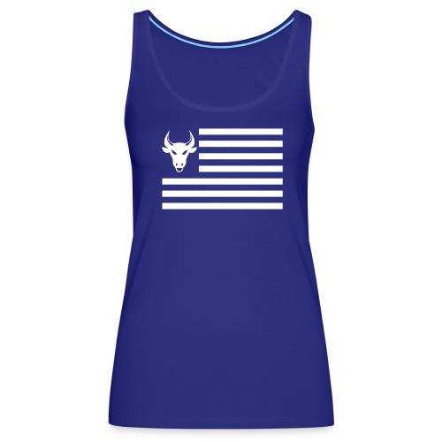 PivotBoss Flag White - Women's Premium Tank Top