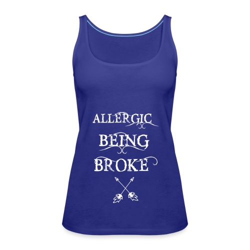T shirt design1 png allergic - Women's Premium Tank Top