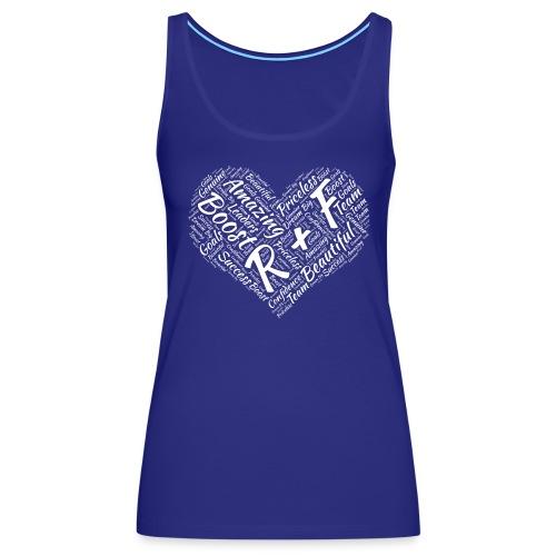 R+F White Heart - Women's Premium Tank Top
