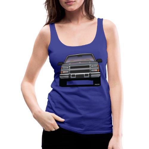 Design Icon: American Bowtie Silver Urban Truck - Women's Premium Tank Top
