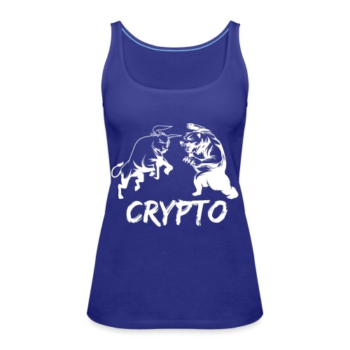 CryptoBattle White - Women's Premium Tank Top