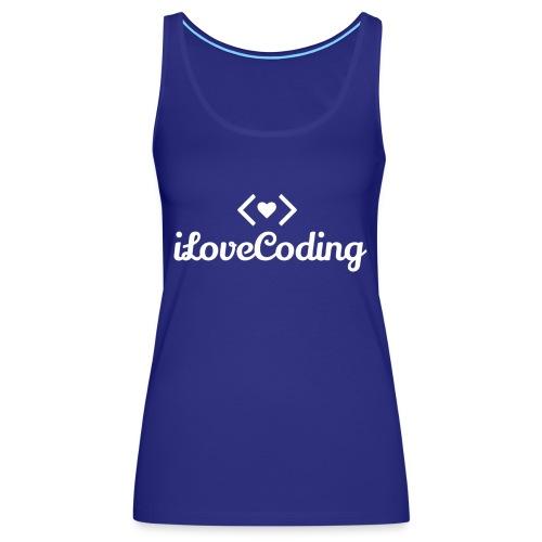 I Love Coding - Women's Premium Tank Top