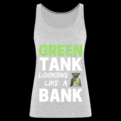 conver design to vector graphic whitegre - Women's Premium Tank Top