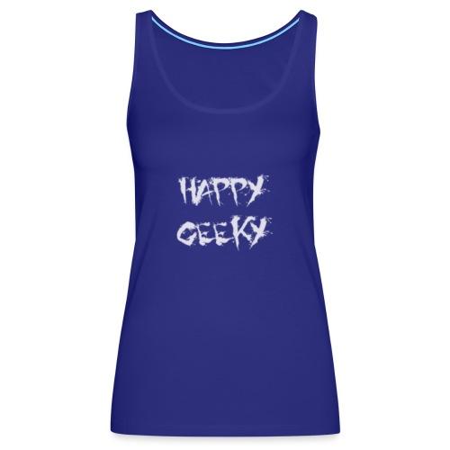 Happy_Geeky_-_Logo_White - Women's Premium Tank Top