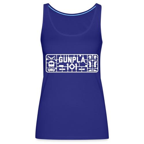 Gunpla 101 Men's T-shirt — Zeta Blue - Women's Premium Tank Top