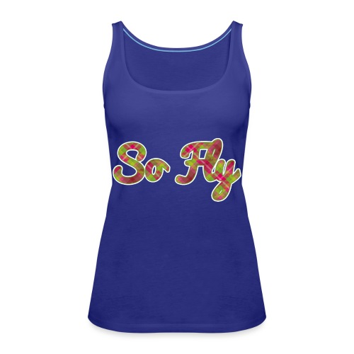 So Fly Pink and Green Plaid - Women's Premium Tank Top