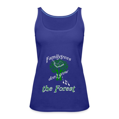 genealogy family tree forest funny birthday gift - Women's Premium Tank Top