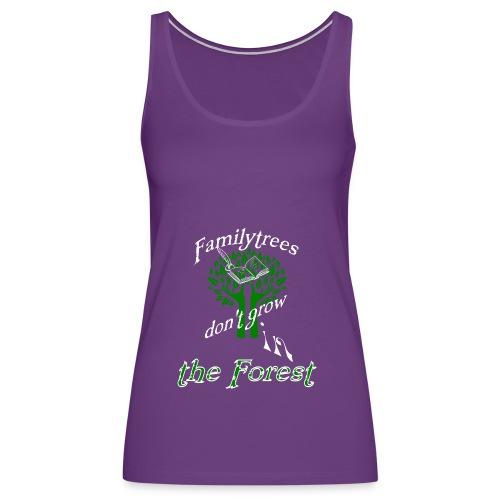genealogy family tree forest funny birthday gift - Women's Premium Tank Top