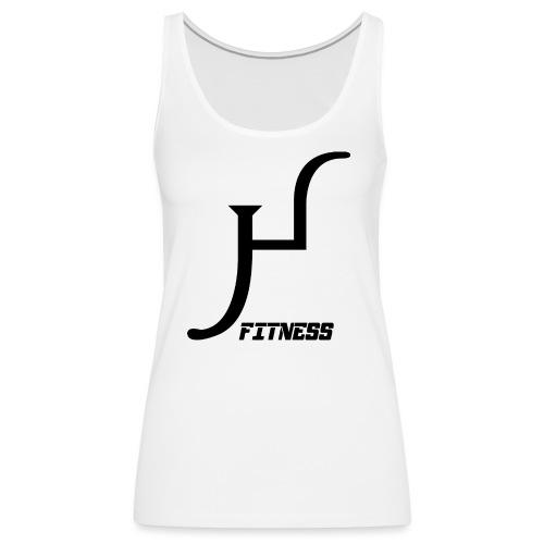 HIIT Life Fitness logo white - Women's Premium Tank Top