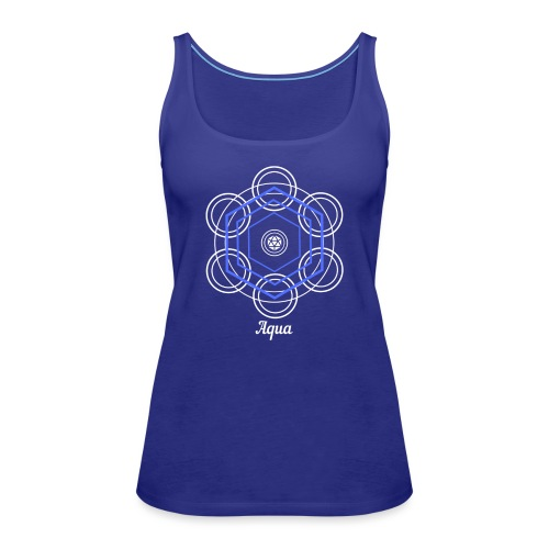 Aqua Water Element Alchemy Design - Women's Premium Tank Top