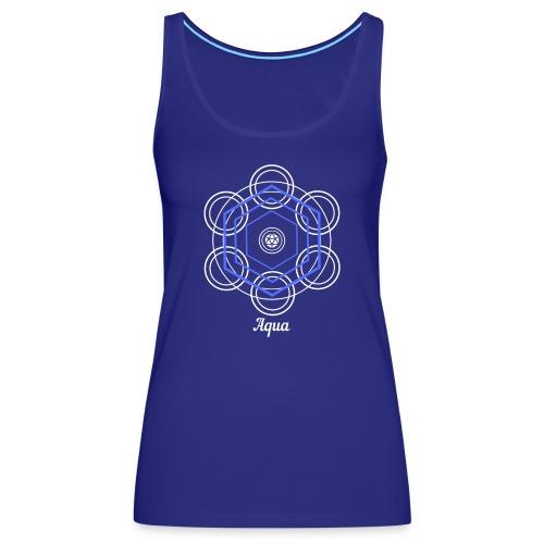 Aqua Water Element Alchemy Design - Women's Premium Tank Top