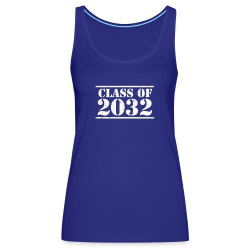 Class of 2032 Kindergarten Grad distressed logo - Women's Premium Tank Top