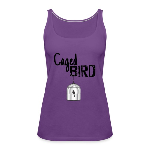 Caged Bird Abstract Design - Women's Premium Tank Top