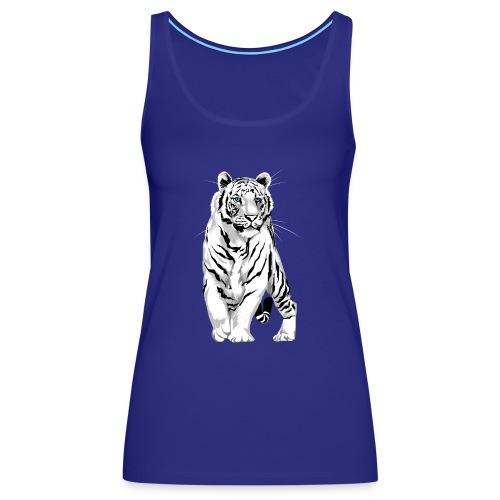 Stately White Tiger - Women's Premium Tank Top