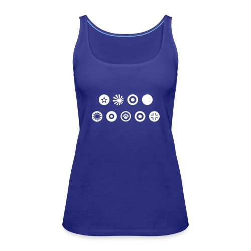 Axis & Allies Country Symbols - One Color - Women's Premium Tank Top