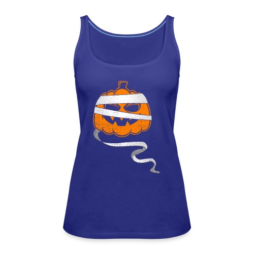 Halloween Bandaged Pumpkin - Women's Premium Tank Top