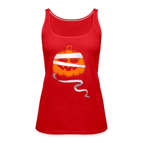 Halloween Bandaged Pumpkin - Women's Premium Tank Top
