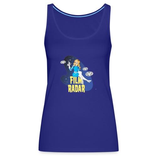 Film Radar space girl logo (blue) - Women's Premium Tank Top