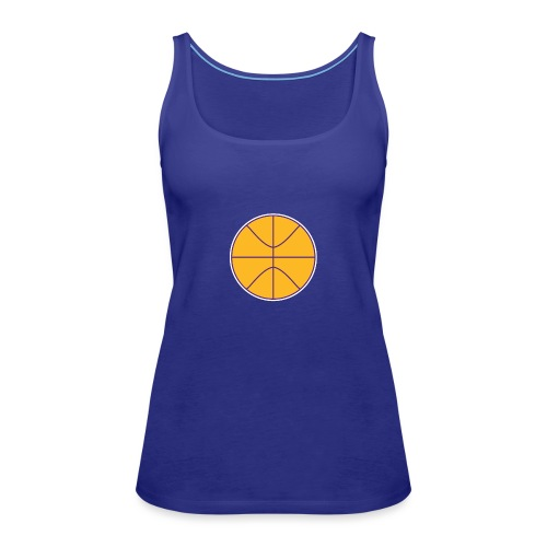 Basketball purple and gold - Women's Premium Tank Top