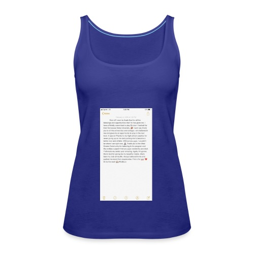 Text from a Football Commit - Women's Premium Tank Top