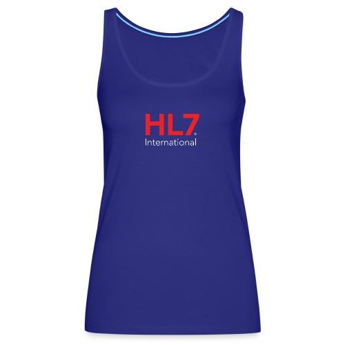 HL7 International Logo - Reverse - Women's Premium Tank Top