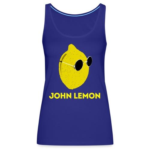 JohnLemon Print2 png - Women's Premium Tank Top