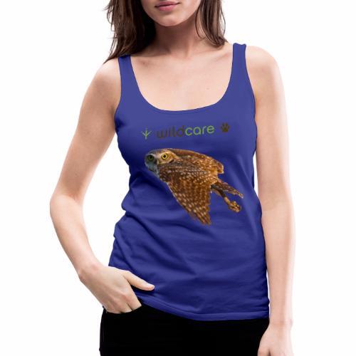 Burrowing Owl in Flight - Women's Premium Tank Top
