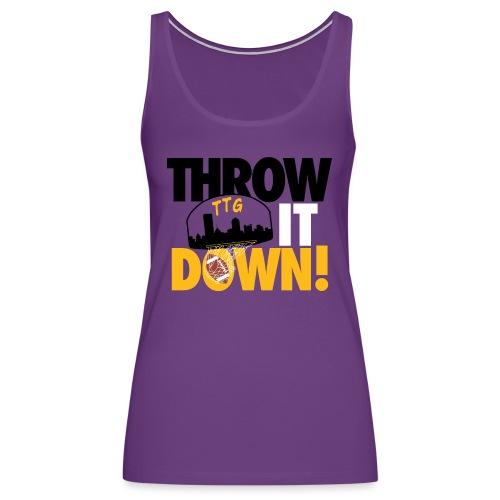 Throw it Down! (Turnover Dunk) - Women's Premium Tank Top