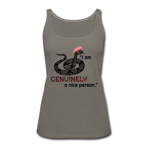 Snake funny t-shirt. - Women's Premium Tank Top