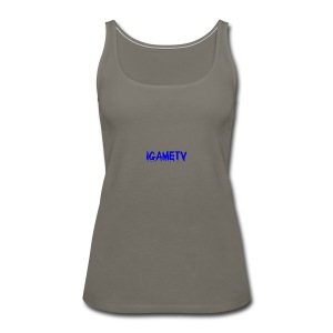 IGAME TV BLUE EDITION - Women's Premium Tank Top