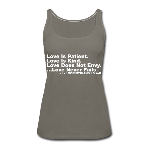 Love Bible Verse - Women's Premium Tank Top