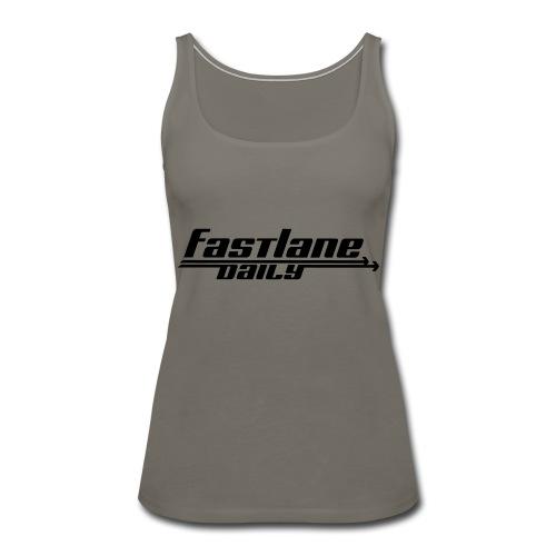 Fast Lane Daily logo - Women's Premium Tank Top