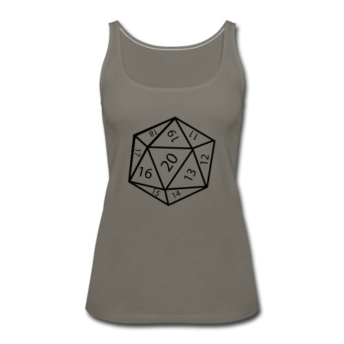 20_sided_dice - Women's Premium Tank Top